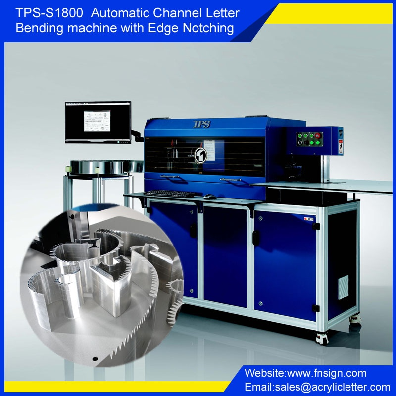 S1800 automatic channel letter bending machine with notching and flanging